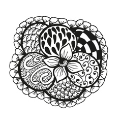Doodling hand drawn amazing flower and patterns vector