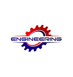 Engineering gear logo design symbol vector