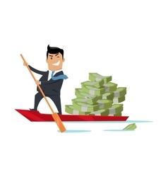 Escape With Money Concept Flat Design vector