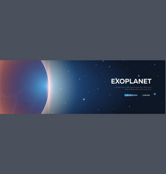 exoplanet astronomical galaxy space background vector image