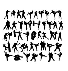 Extreme and material art sports silhouettes vector