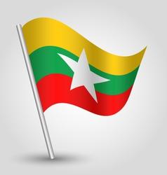 flag burma vector image