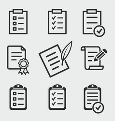 form icons set vector image