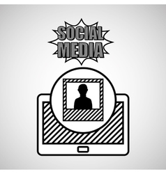 Hand drawing picture profile social media mobile vector