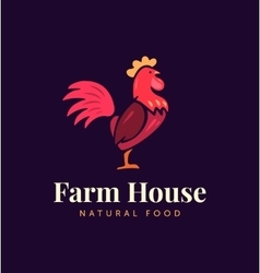 Hand drawn hen logo for home business with vector