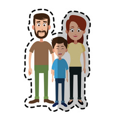 happy family icon image vector image