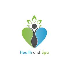 Health amp spa logo design templatehealthcare vector