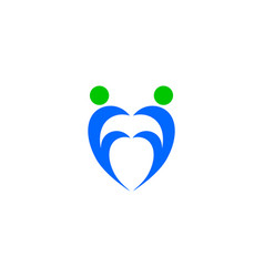 heart people logo vector image