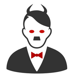 Hitler devil flat icon vector
