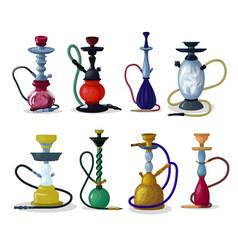 Hookah tobacco hooka smoke pipe arabic vector