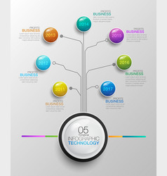 Infographic business technology timeline 05 vector