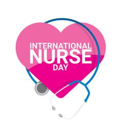 International nurse day label vector