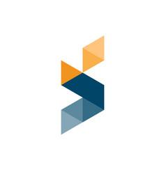 letter s geometric logo vector image