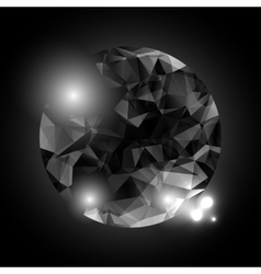 Low poly circular shape vector