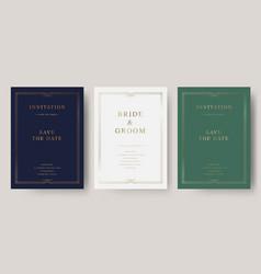 Luxury vintage golden invitation card vector