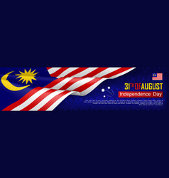 Malaysian independence day horizontal patriotic vector