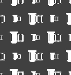 negative films icon symbol Seamless pattern on a vector image