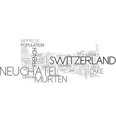 Neuchatel word cloud concept vector