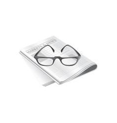newspapers and eyeglasses isolated vector image
