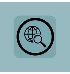 Pale blue global search sign vector