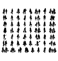 People in shopping vector