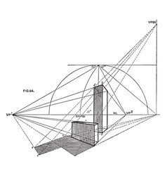 Perspective viewed from a particular point vector