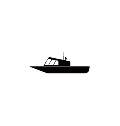 police boat icon element of popular transport vector image