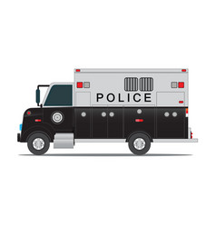 police car for transportation of criminals in vector image