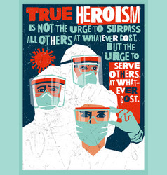 Poster medical staff personal protective equipment vector