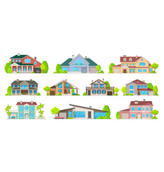 private buildings real estate vector image