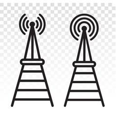 Radio signal broadcast tower mast antenna line vector