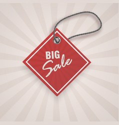 realistic discount red tag for sale promotion vector image