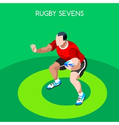 Rugby Sevens 2016 Summer Games 3D Isometric vector
