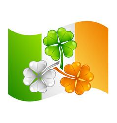 saint patricks day irish flag with vector image