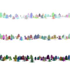 seamless random pine tree pattern paragraph vector image