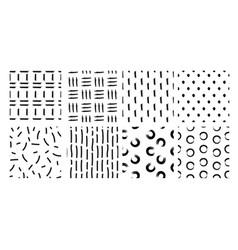 Set hand drawn seamless vector
