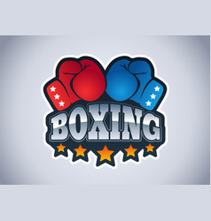 Sport logo for boxing vector