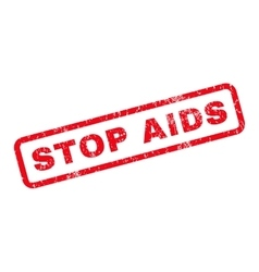 Stop AIDS Rubber Stamp vector image