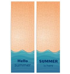 Summer background set vector