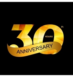 Template Logo 30th Anniversary vector