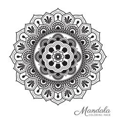 Tibetan mandala decorative ornament design vector