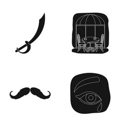 Travel barber and or web icon in black style vector