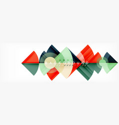 Triangles and circle geometric background vector