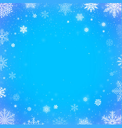 winter falling snow blue background christmas vector image