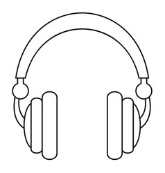 Wired headphones icon outline style vector
