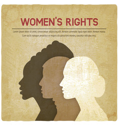 women rights concept three of the female profile vector image