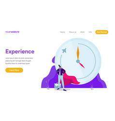 work experience concept vector image