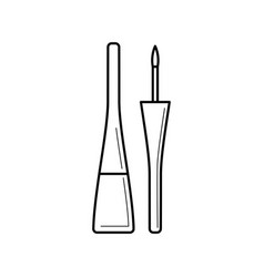 bottle with liquid eyeliner and brush vector image