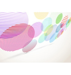 Bright retro striped circles fly background vector image vector image