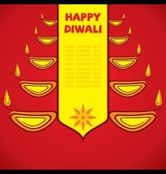 creative happy diwali greeting design by diyas vector image